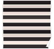 Elegant Black and Pink fashion Stripes Poster