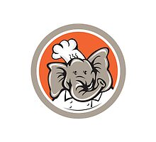 Elephant Chef Head Cartoon by patrimonio