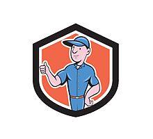 Handyman Repairman Thumbs Up Cartoon by patrimonio