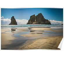 Archway Islands, Golden Bay New Zealand Poster