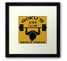 Goku`s 225 Club Bench Press Dragon Ball Z Framed Print