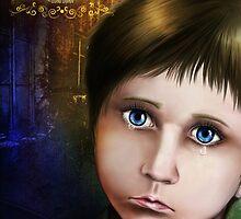 The sad crying child by GalinaFedulova