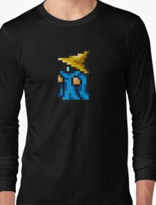 Black Mage sprite - FFRK - Final Fantasy I (FF1) (Core Class) Long Sleeve T-Shirt