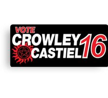 Crowley / Castiel 2016 Canvas Print