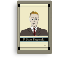 F Scott Fitzgerald Portrait in 60 seconds in yellow Canvas Print
