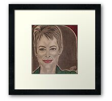 An American Superstar film and movie actress Framed Print