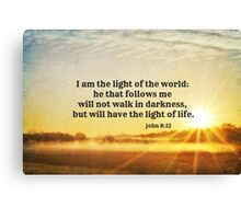John 8 Light of the World Canvas Print