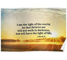 John 8 Light of the World Poster