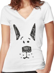 The Dog Women's Fitted V-Neck T-Shirt