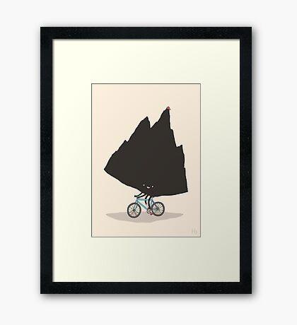 Mountain Biking Framed Print