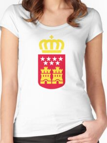 Coat of Arms of the Community of Madrid Women's Fitted Scoop T-Shirt