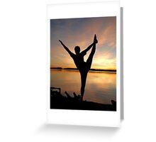 dancer at sunset Greeting Card