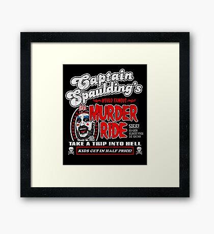 Captain Spaulding Murder Ride Framed Print