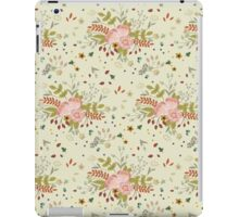 Woodland Flowers - Cream iPad Case/Skin
