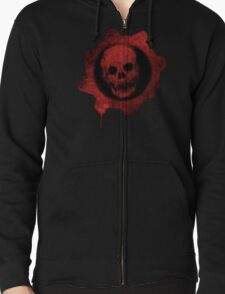 Gears Of War Logo  Zipped Hoodie