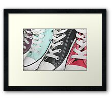 Coloured Sneakers Framed Print