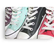 Coloured Sneakers Canvas Print