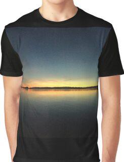 sunset on a lake Graphic T-Shirt