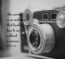 Dorothea Lange Camera by Kimberose