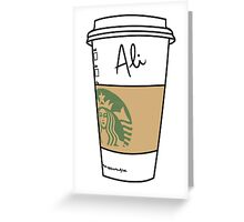 CUSTOMIZED HIPSTER :: ALI Greeting Card