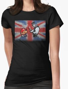 super mario - mushrooms addicted england Womens Fitted T-Shirt