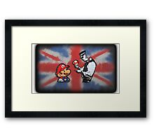 super mario - mushrooms addicted england Framed Print