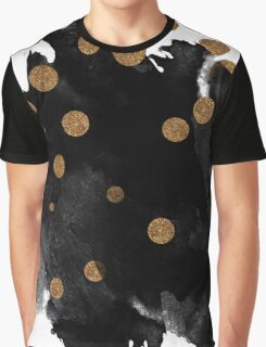 Smudge - Black and Gold Graphic T-Shirt