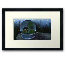 Firefly Globe Framed Print