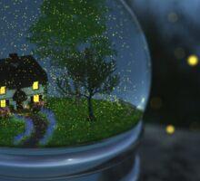 Firefly Globe Sticker