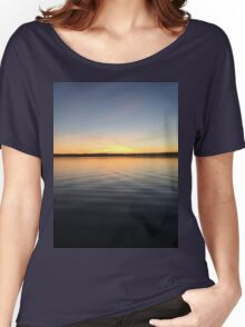 ohio sunset on a lake Women's Relaxed Fit T-Shirt