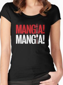 Mangia! Mangia! Women's Fitted Scoop T-Shirt