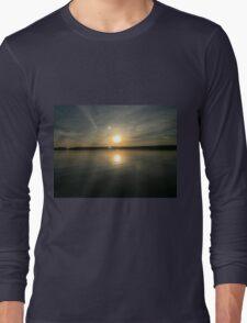 ohio sunset on a lake Long Sleeve T-Shirt
