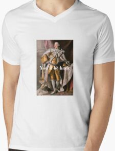 You'll Be Back King George III inspired by Hamilton Mens V-Neck T-Shirt