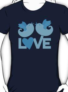 LOVE BLUE birds T-Shirt