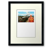 JR Laying Pipe Framed Print