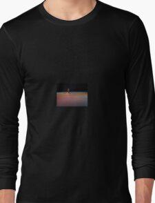 dancer in colored lights Long Sleeve T-Shirt