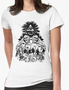 All Seeing Never Caring Womens Fitted T-Shirt