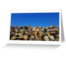 The Blue Skies Log Pile Greeting Card