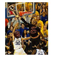 Lebron Robs Steph Photographic Print