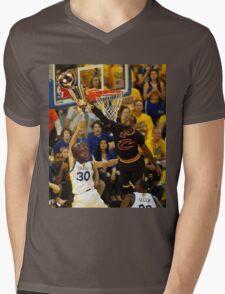 Lebron Robs Steph Mens V-Neck T-Shirt