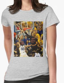 Lebron Robs Steph Womens Fitted T-Shirt