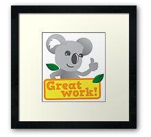 Great work Koala cute Framed Print