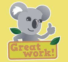 Great work Koala cute Kids Tee