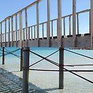 Under the bridge to the sea of blue by Profo Folia