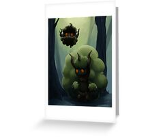 Fluffy Forest Ghosts Greeting Card