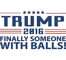 TRUMP 2016 Finally Someone With Balls ! Photographic Print