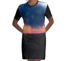 Sunset in the Valley Graphic T-Shirt Dress