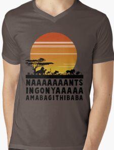 Circle Of Life Lion King Mens V-Neck T-Shirt