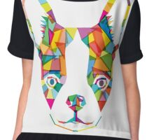 Rainbow Bulldog Chiffon Top