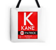 Retro CTA sign Kane Tote Bag